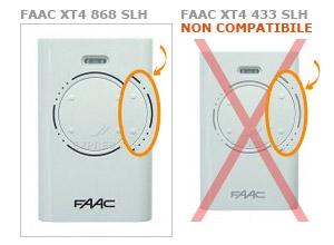 faac xt4 868 slh telecomando express i telecomandi per. Black Bedroom Furniture Sets. Home Design Ideas